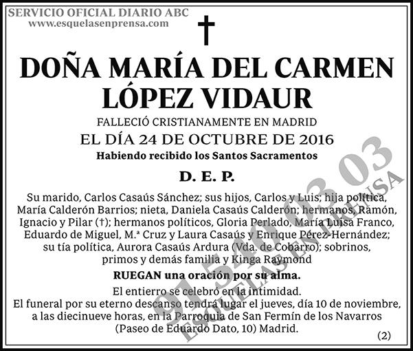 María del Carmen López Vidaur